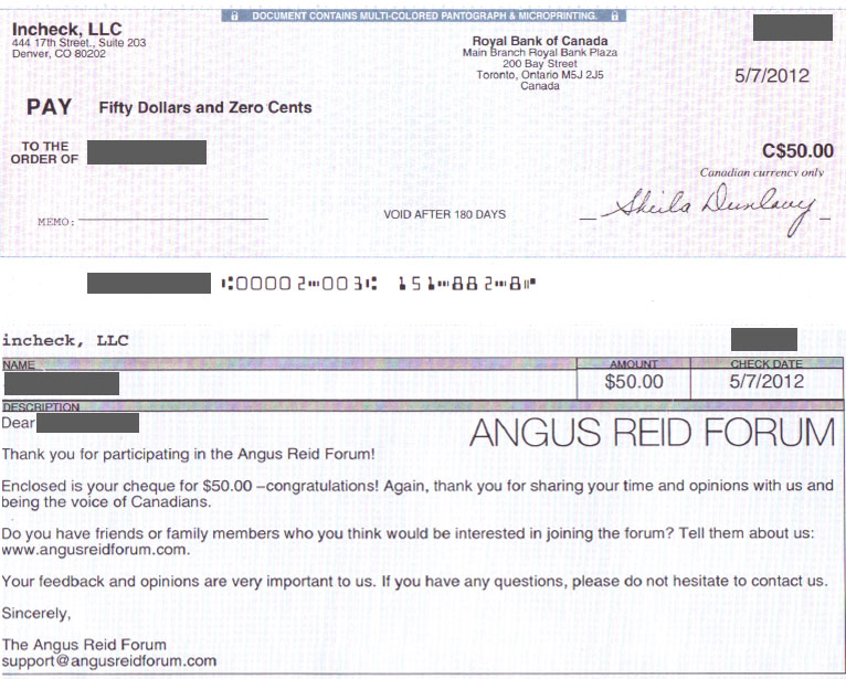 angus reid cheque