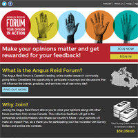 Angus Reid Forum Website