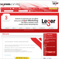LegerWeb Surveys Website