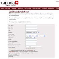 Canada Talk Now Surveys Website
