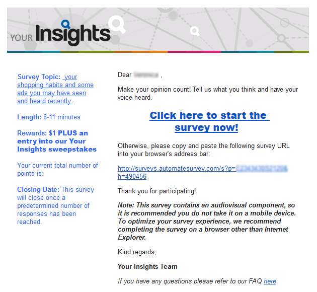 your insights survey