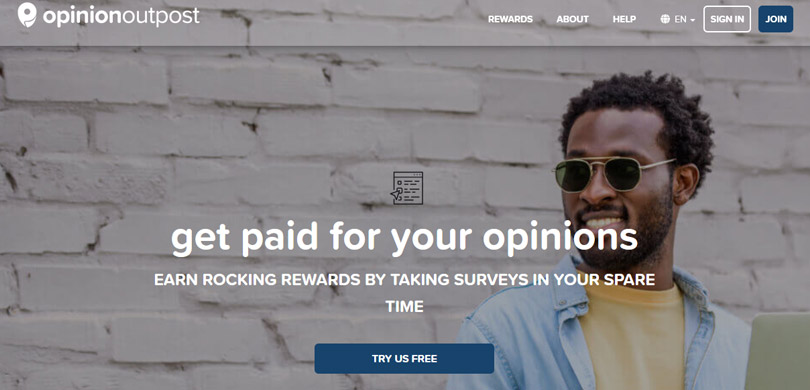 Opinion Outpost Canada website